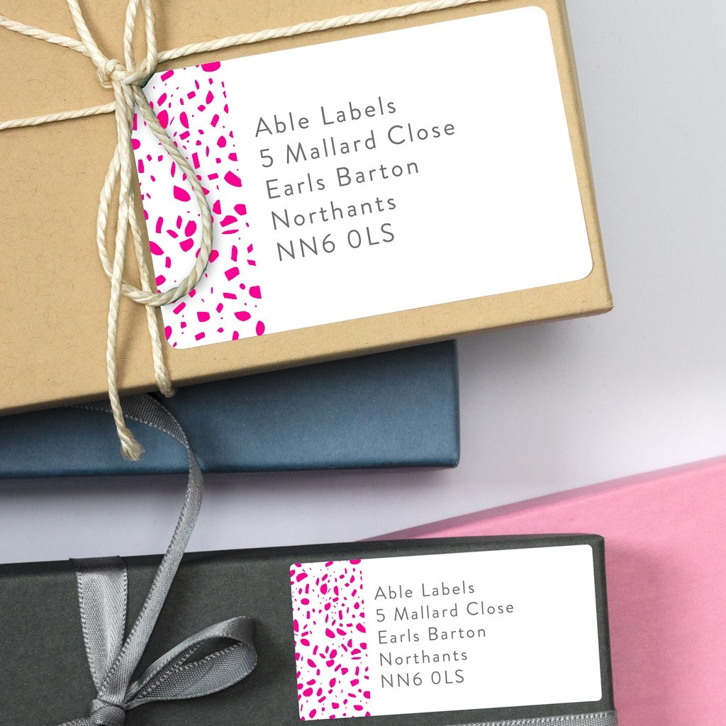 Speckled Address Labels
