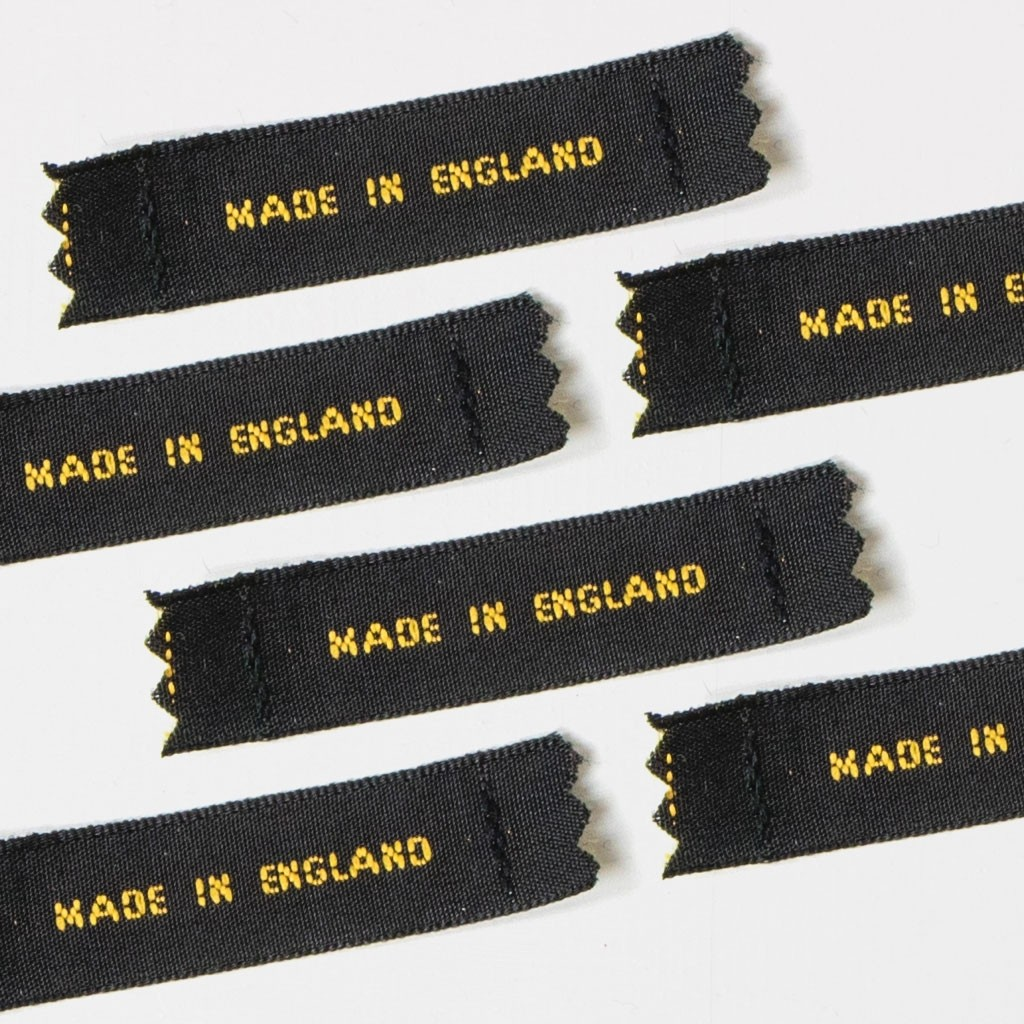Bespoke Woven Labels - 12mm Small Capital Letters