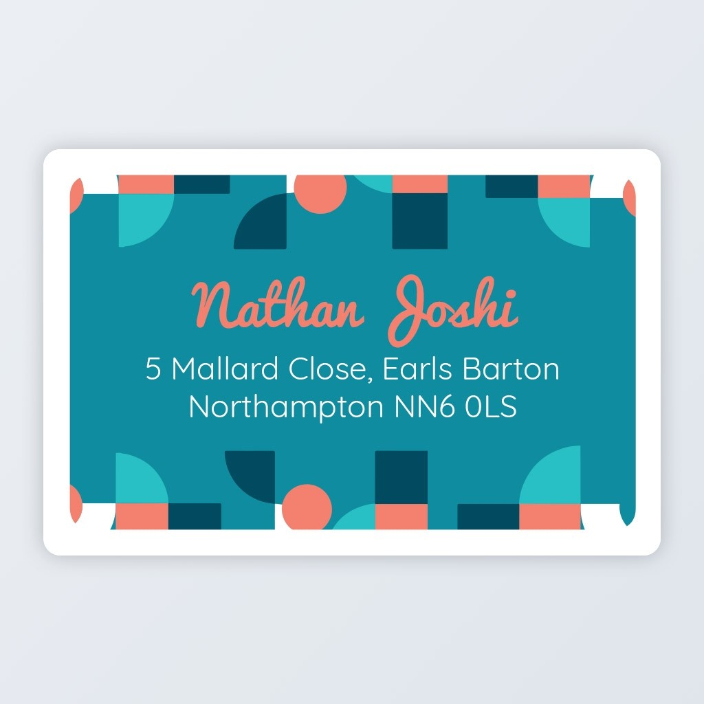 "Roll Address Label 76x50mm (3""x2"") Design 1"