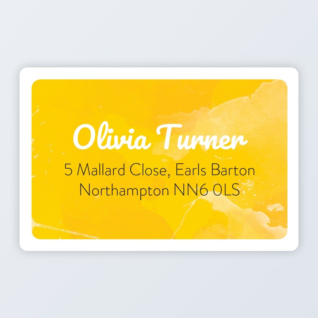"Roll Address Label 76x50mm (3""x2"") Design 2"