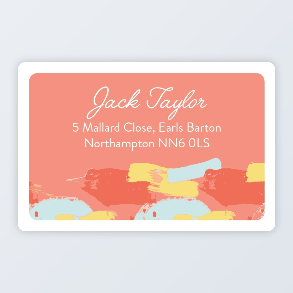 "Roll Address Label 76x50mm (3""x2"") Design 4"