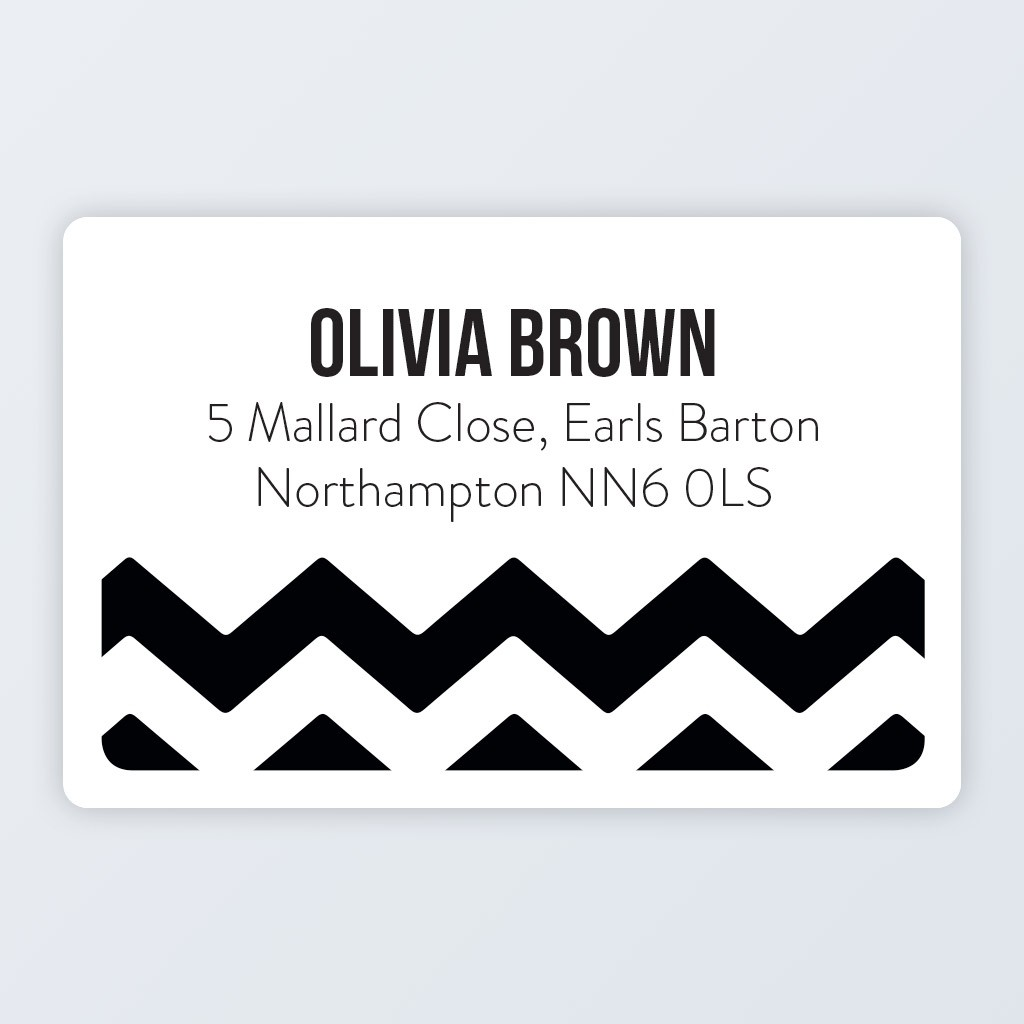 "Roll Address Label 76x50mm (3""x2"") Design 5"