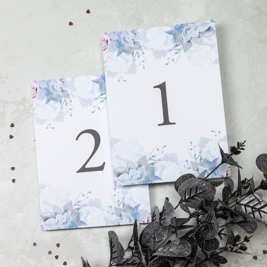 Pastel Floral Table Numbers (1-10)