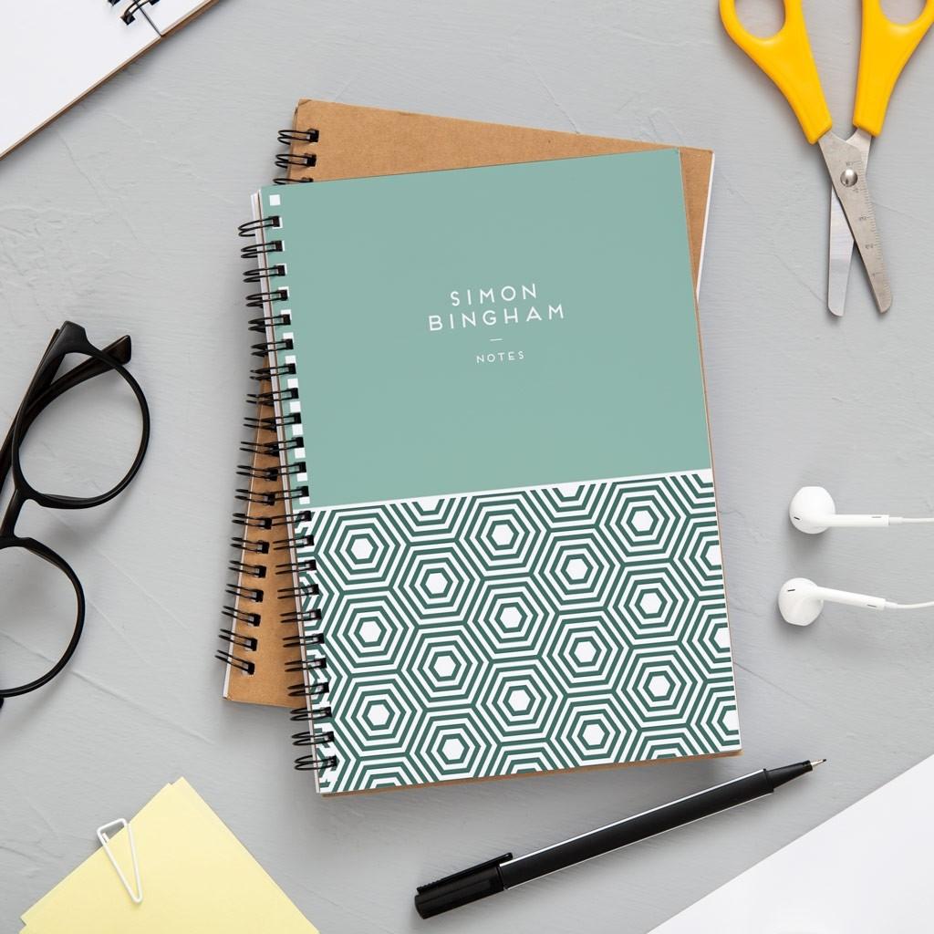 A4 Geometric Notebook