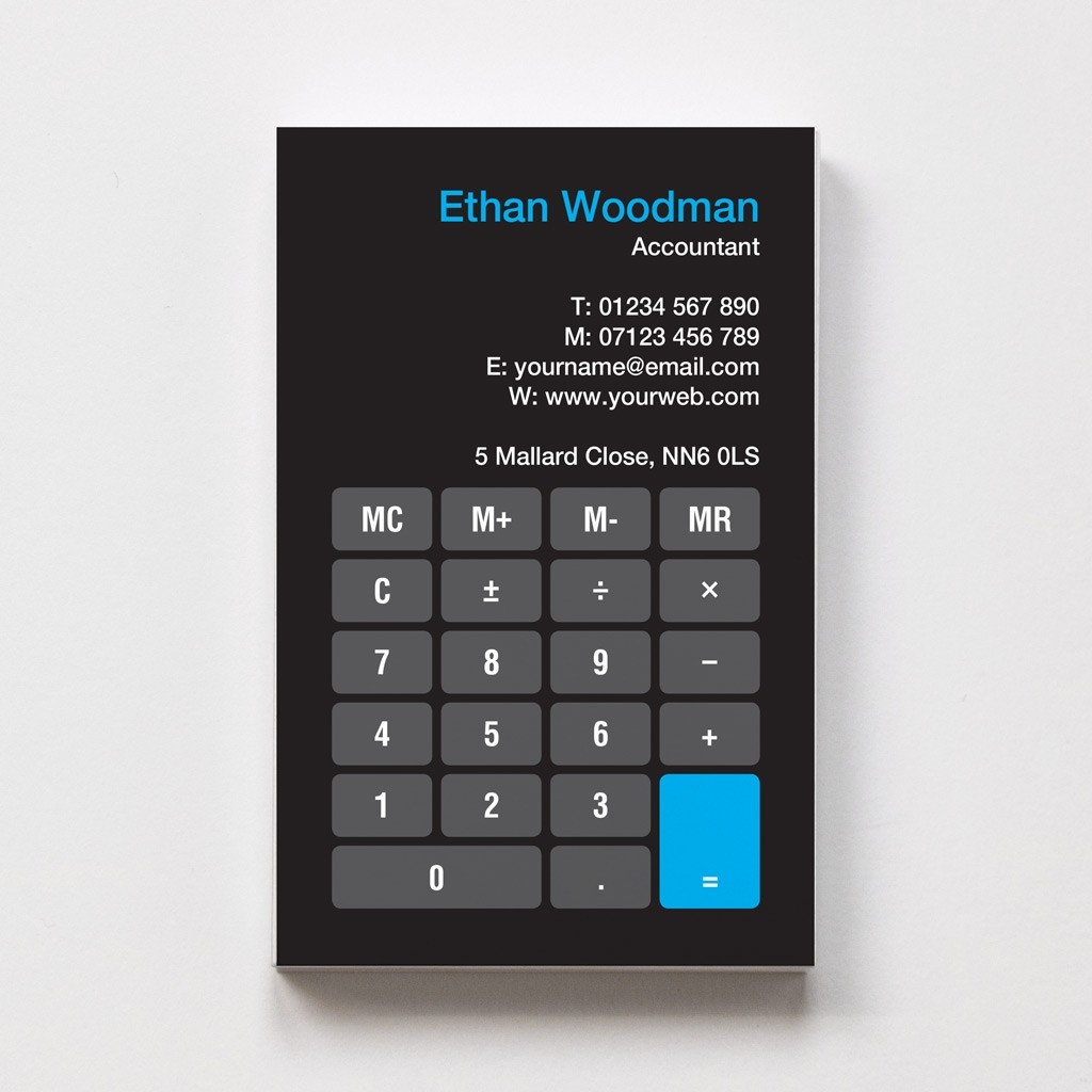 Templated Business Card Accountant 1