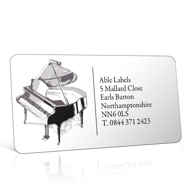 Pre Designed Piano Address Label on A4 Sheets
