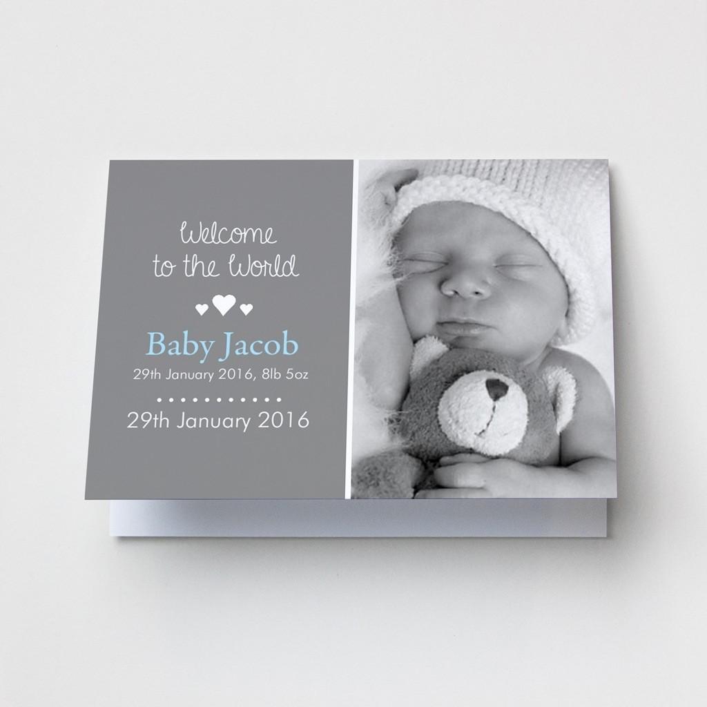Baby Photo Announcement Cards - Landscape