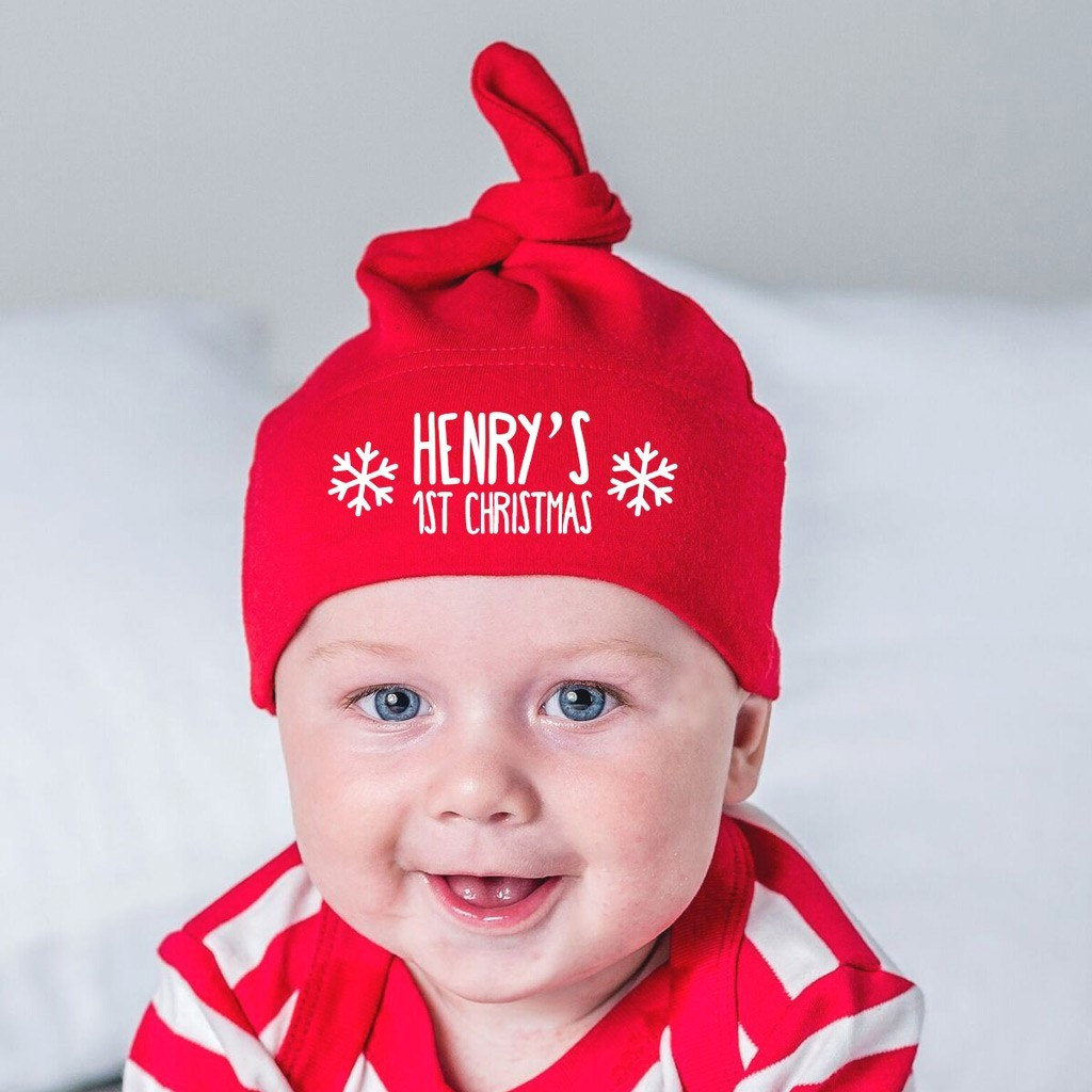 Personalised Christmas Baby Hat - First Christmas