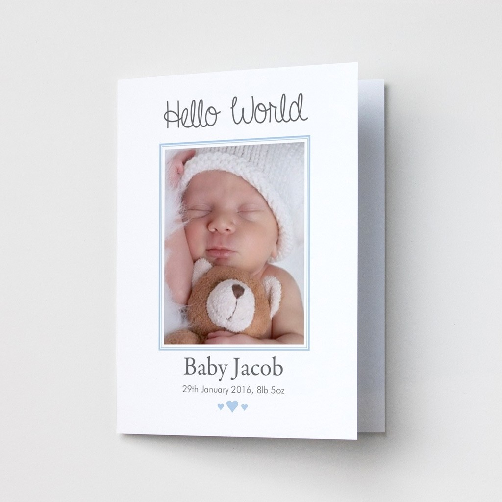 Baby Photo Announcement Cards - Portrait