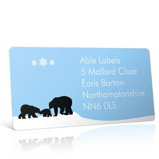Christmas A4 Sheet Labels - Bears