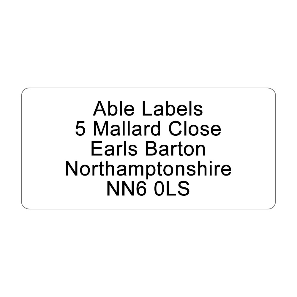 White Address Labels On A4 Sheets
