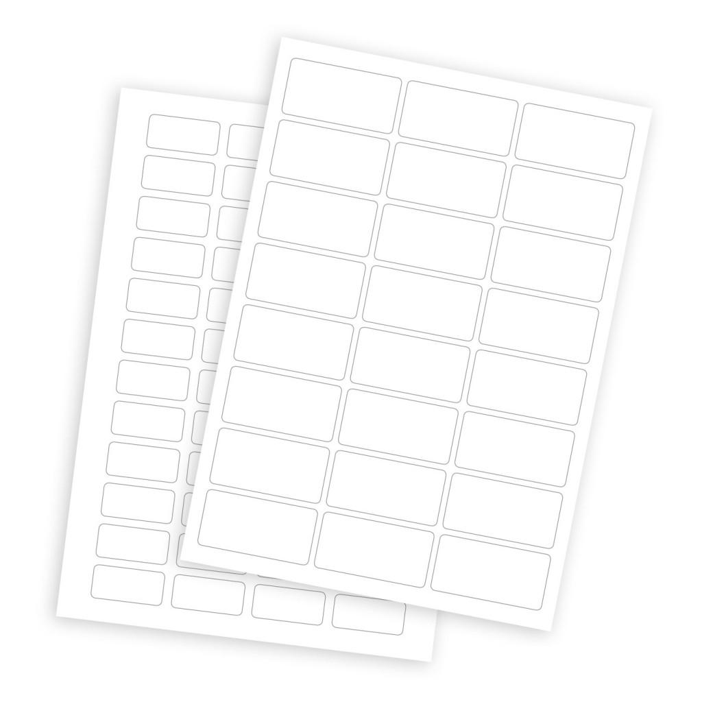 Blank A4 Sheet Labels