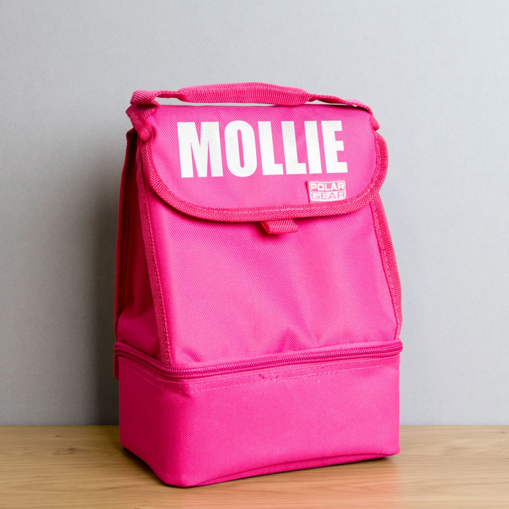 Buy One Get One FREE - Personalised Lunch Pink Bag