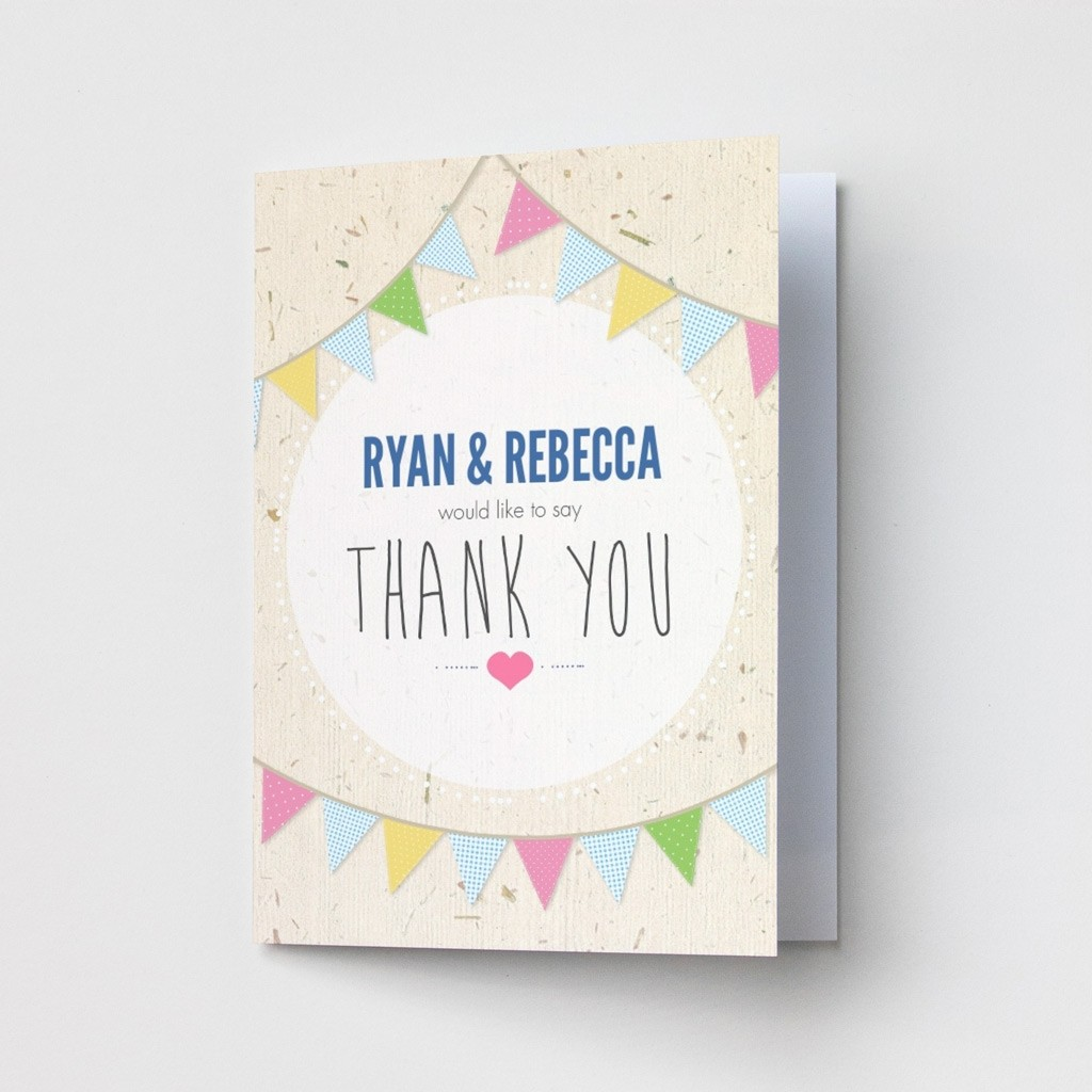 Bunting - Thank You Cards