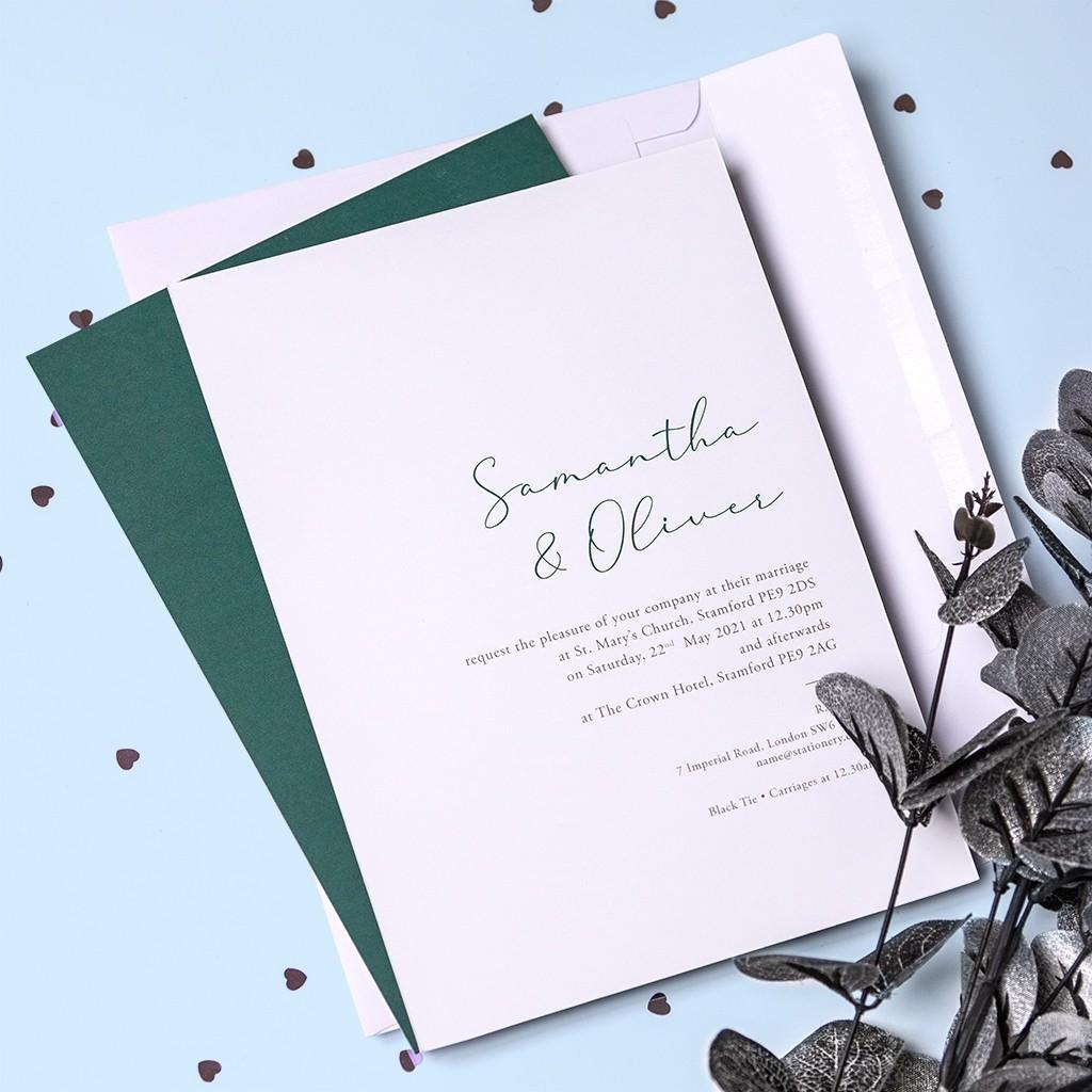 Calligraphy Personalised Wedding Invitation