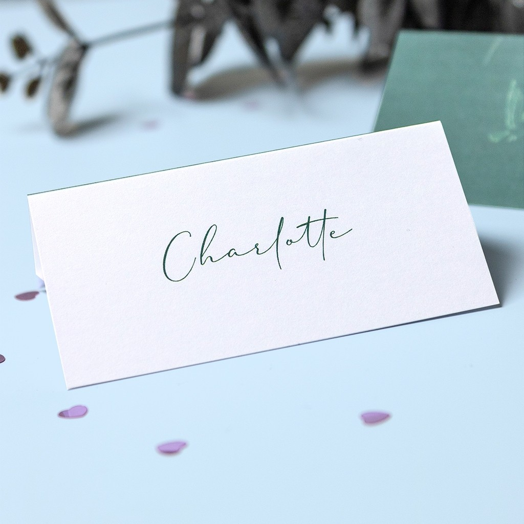 Calligraphy Table Place Cards