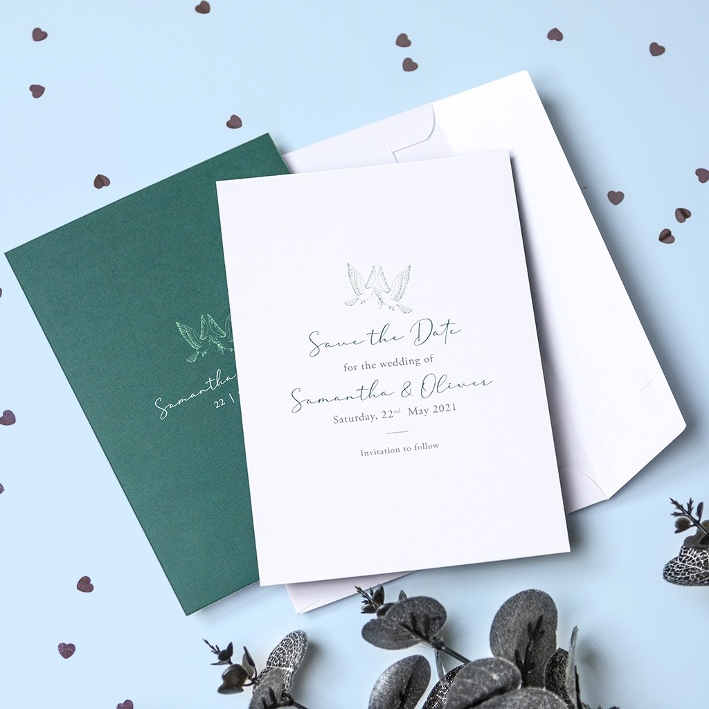Calligraphy Personalised Save the Date Cards