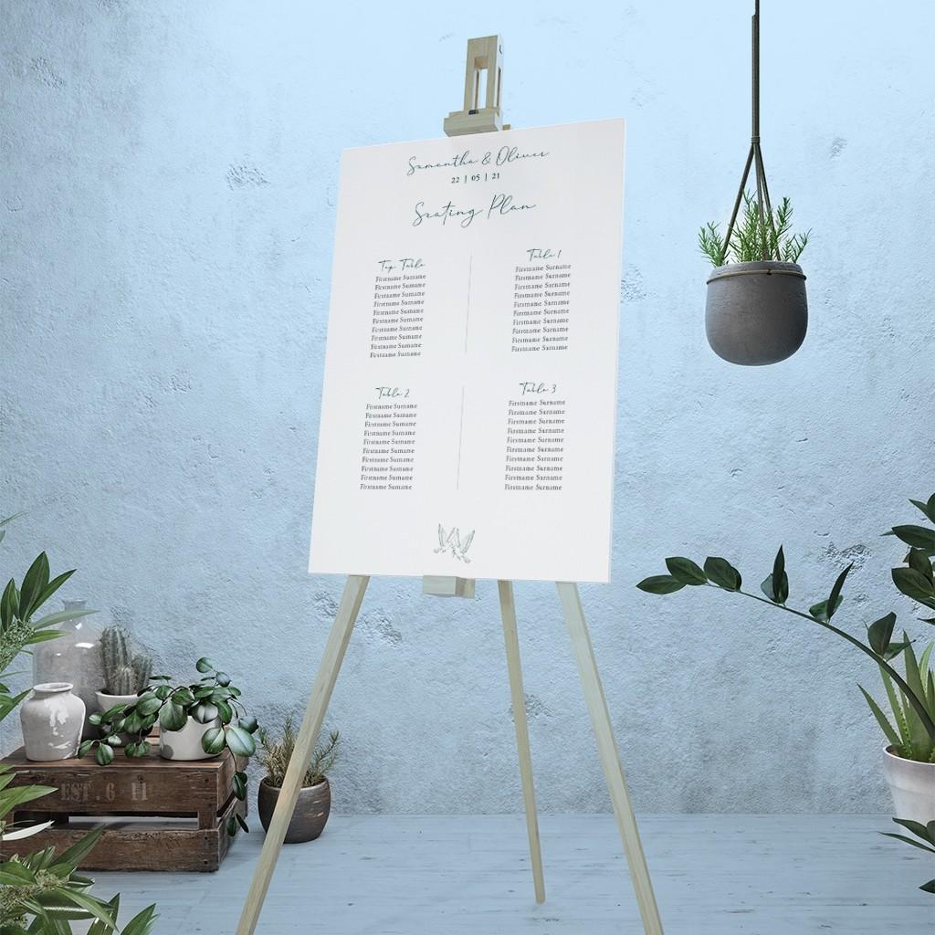 Calligraphy Personalised Wedding Table Plan