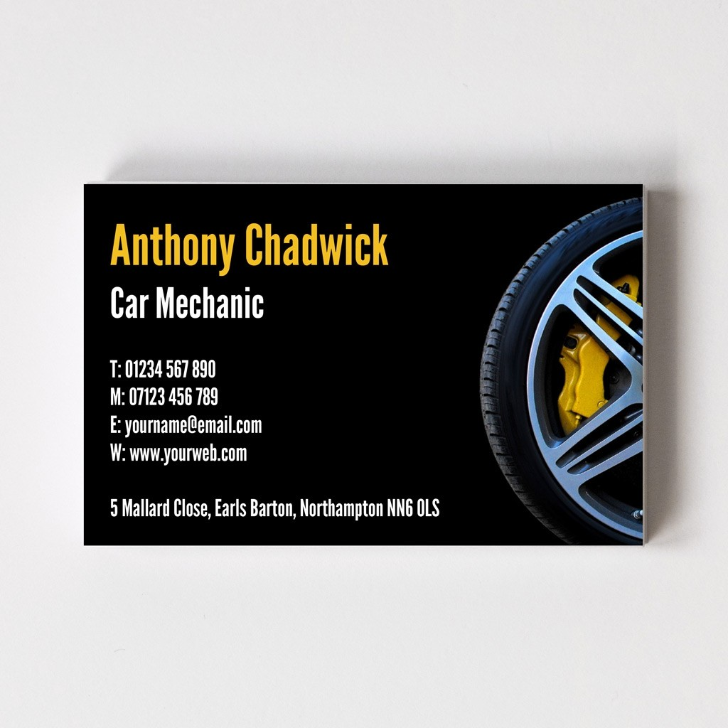 Mechanic Templated Business Card 2