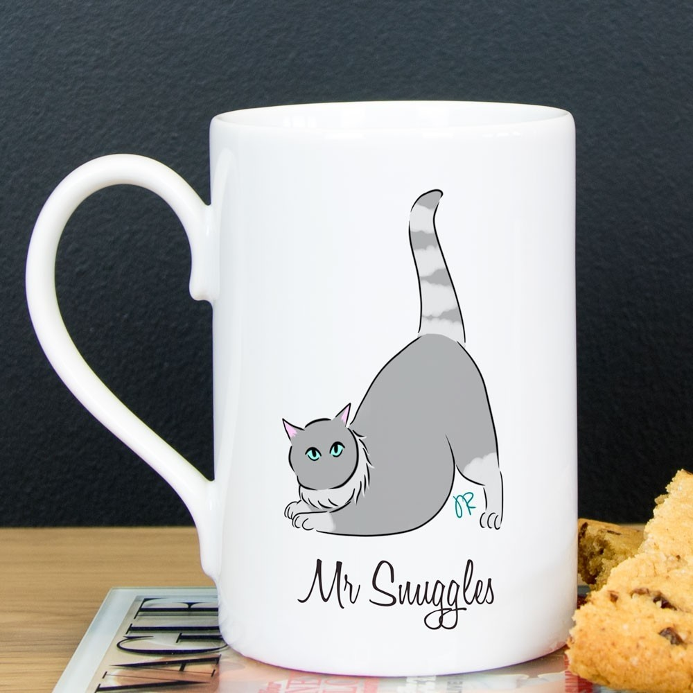 Personalised Cat Porcelain Coffee Mug