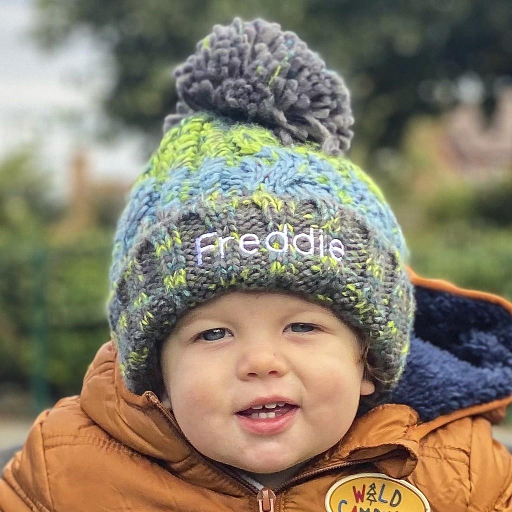 Personalised Winter Child Pom Pom Hat