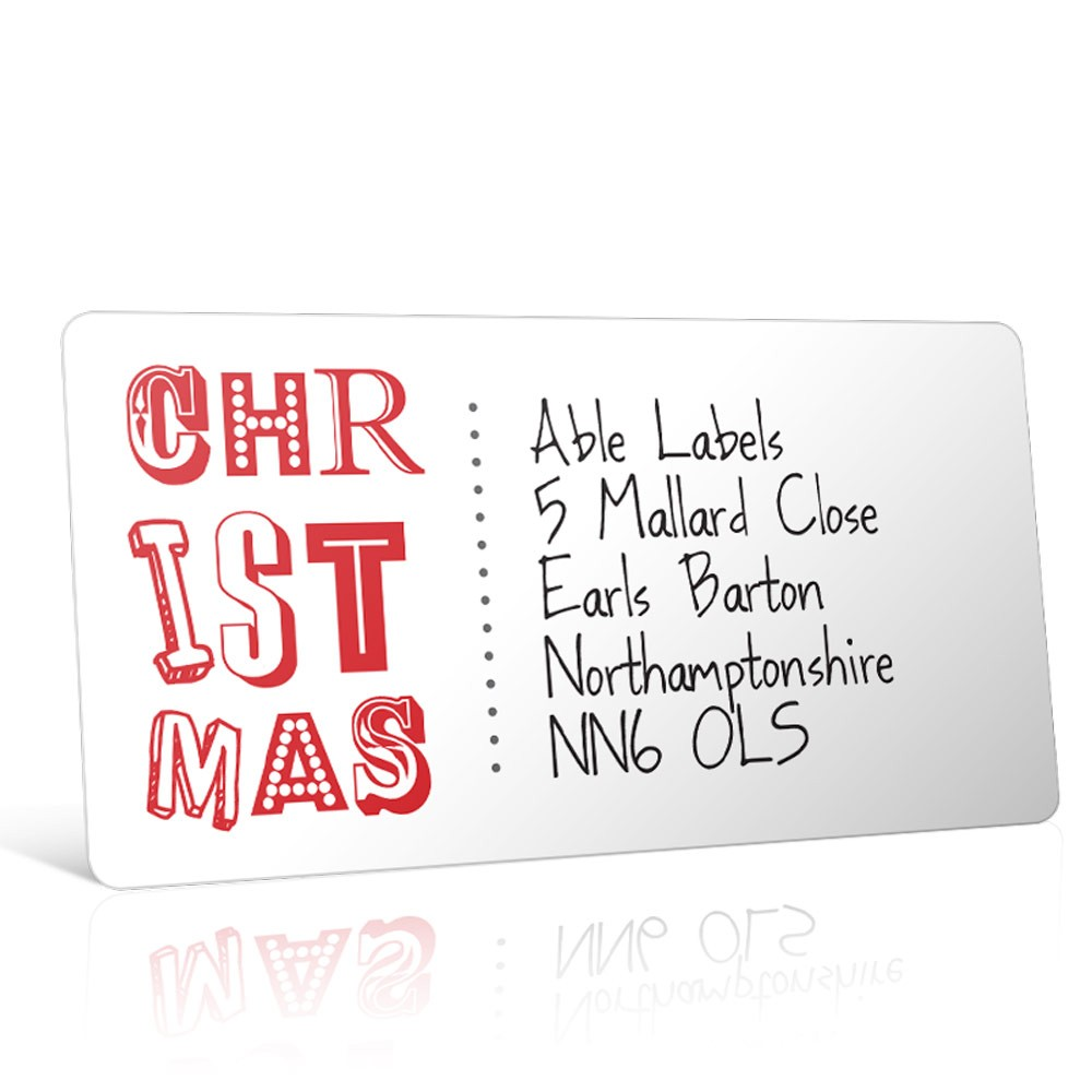 Christmas A4 Sheet Labels - Christmas Type