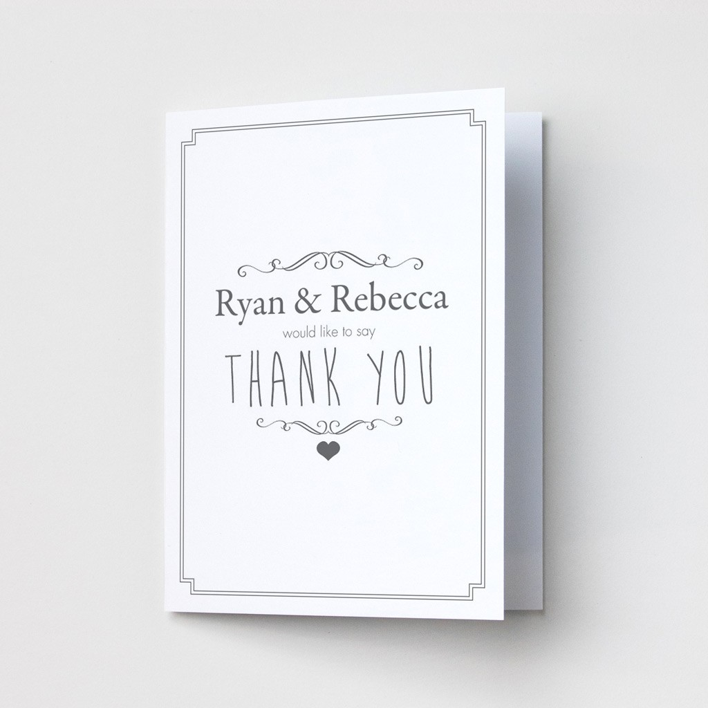 Classic Border Anniversary - Thank You Cards