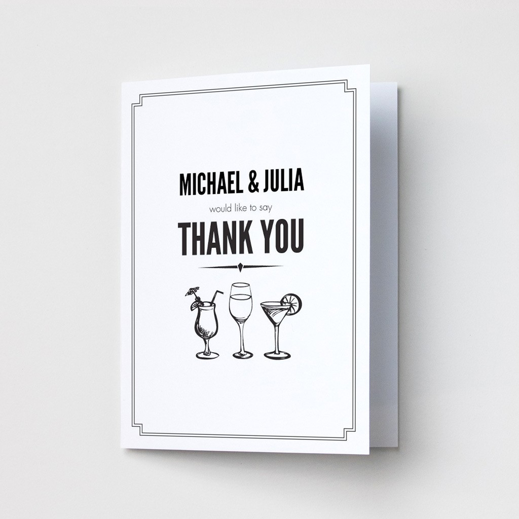 Classic Border - Thank You Cards