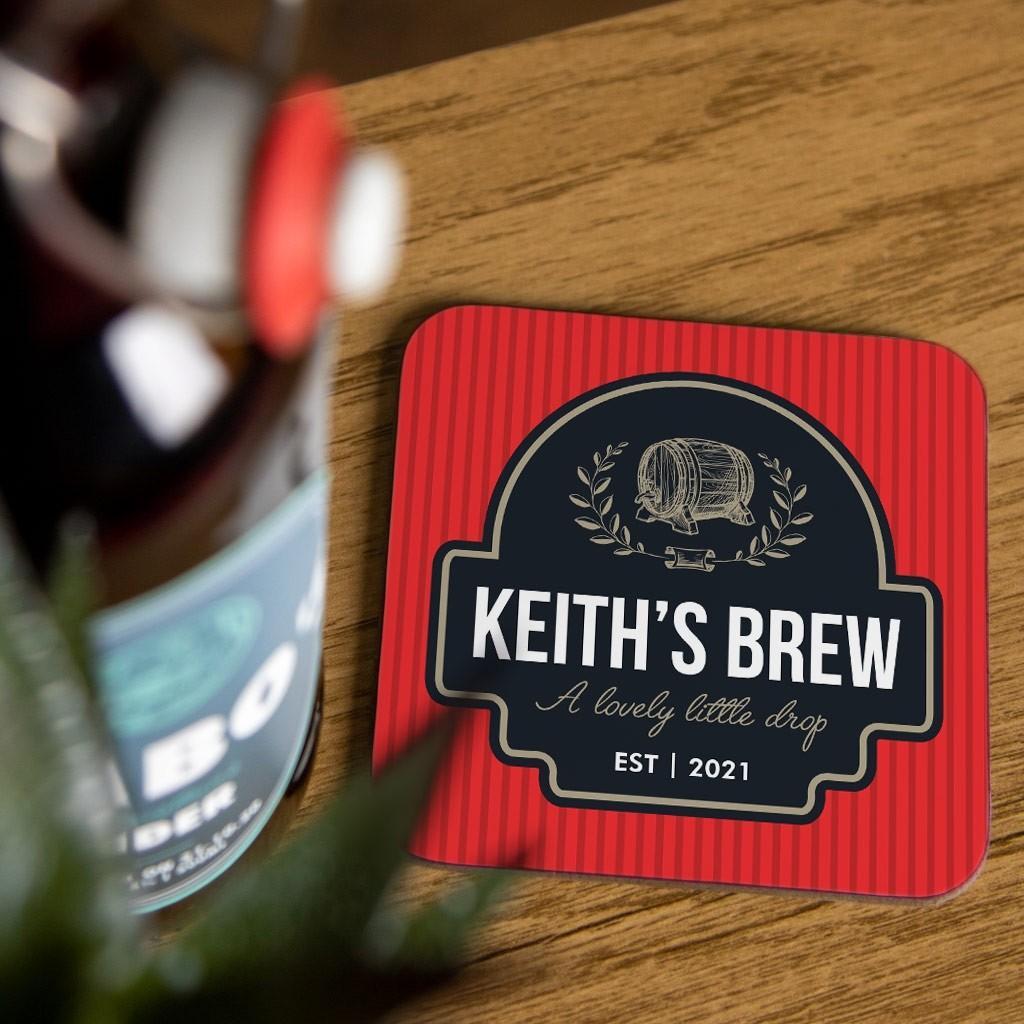 Personalised Beer Coaster Set - Design 02