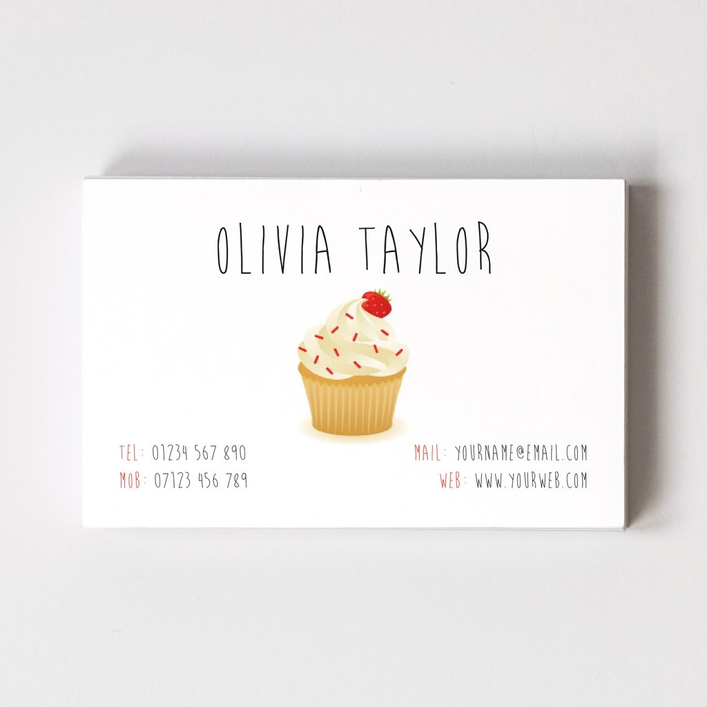 Cup Cake Maker Templated Business Card 2