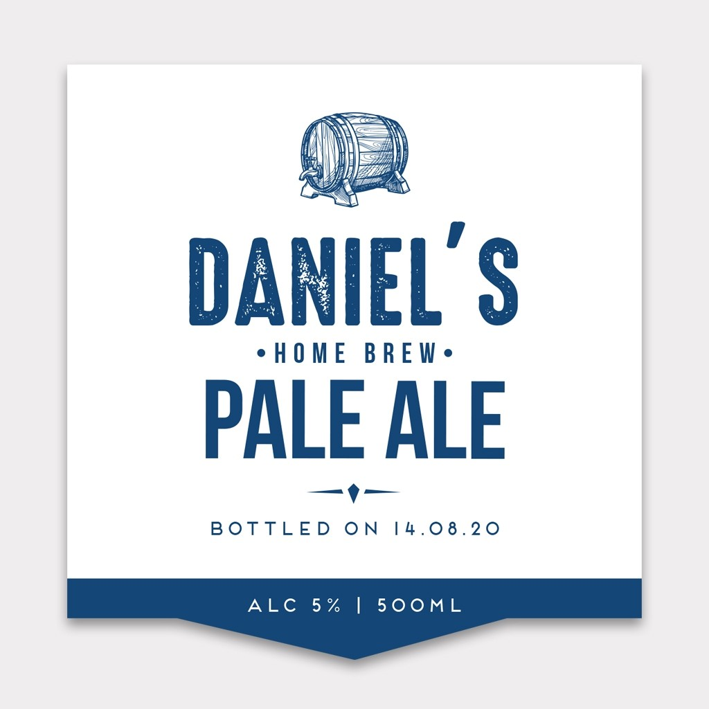 Personalised Beer Label - 4 Pack - Design 1