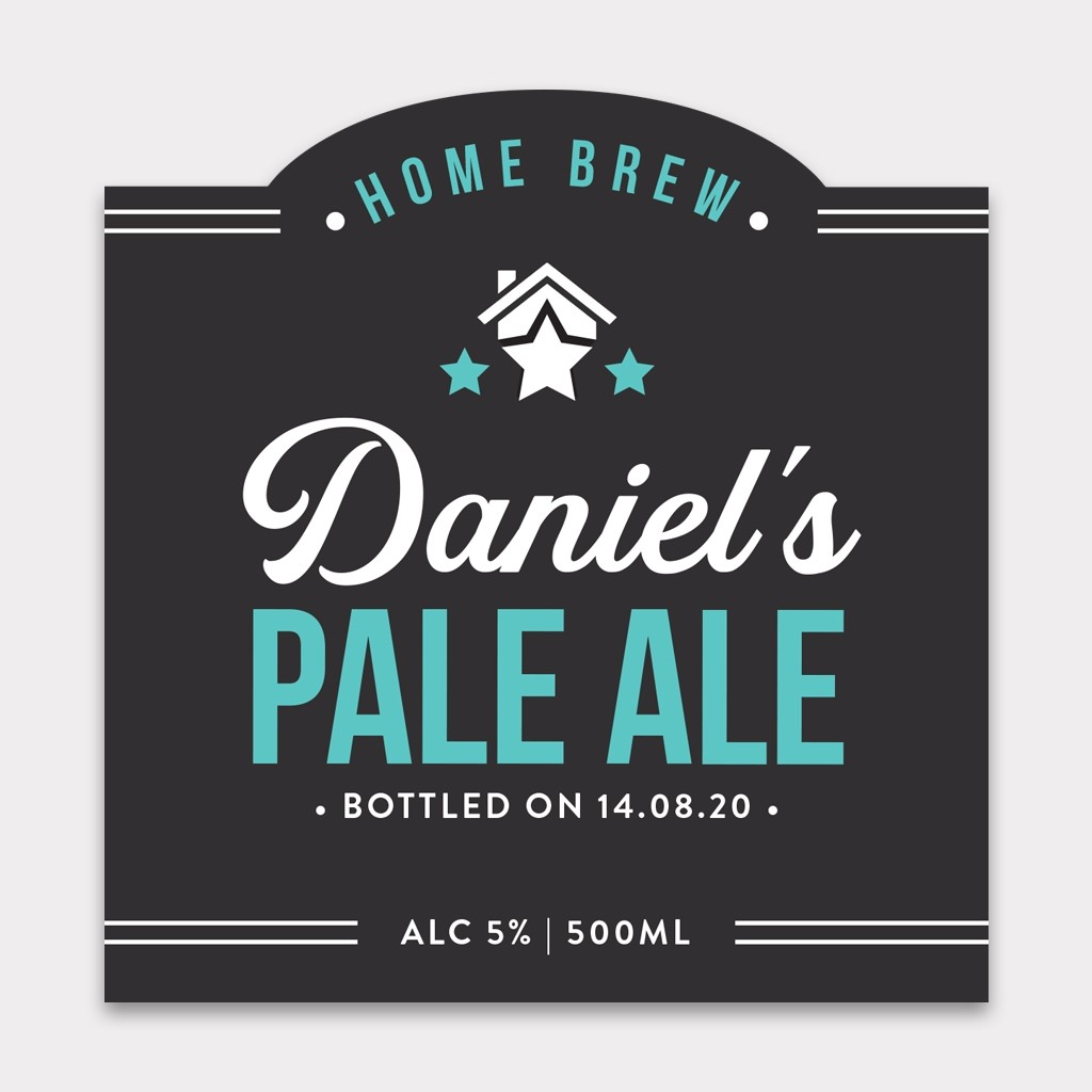 Personalised Beer Label - 4 Pack - Design 2