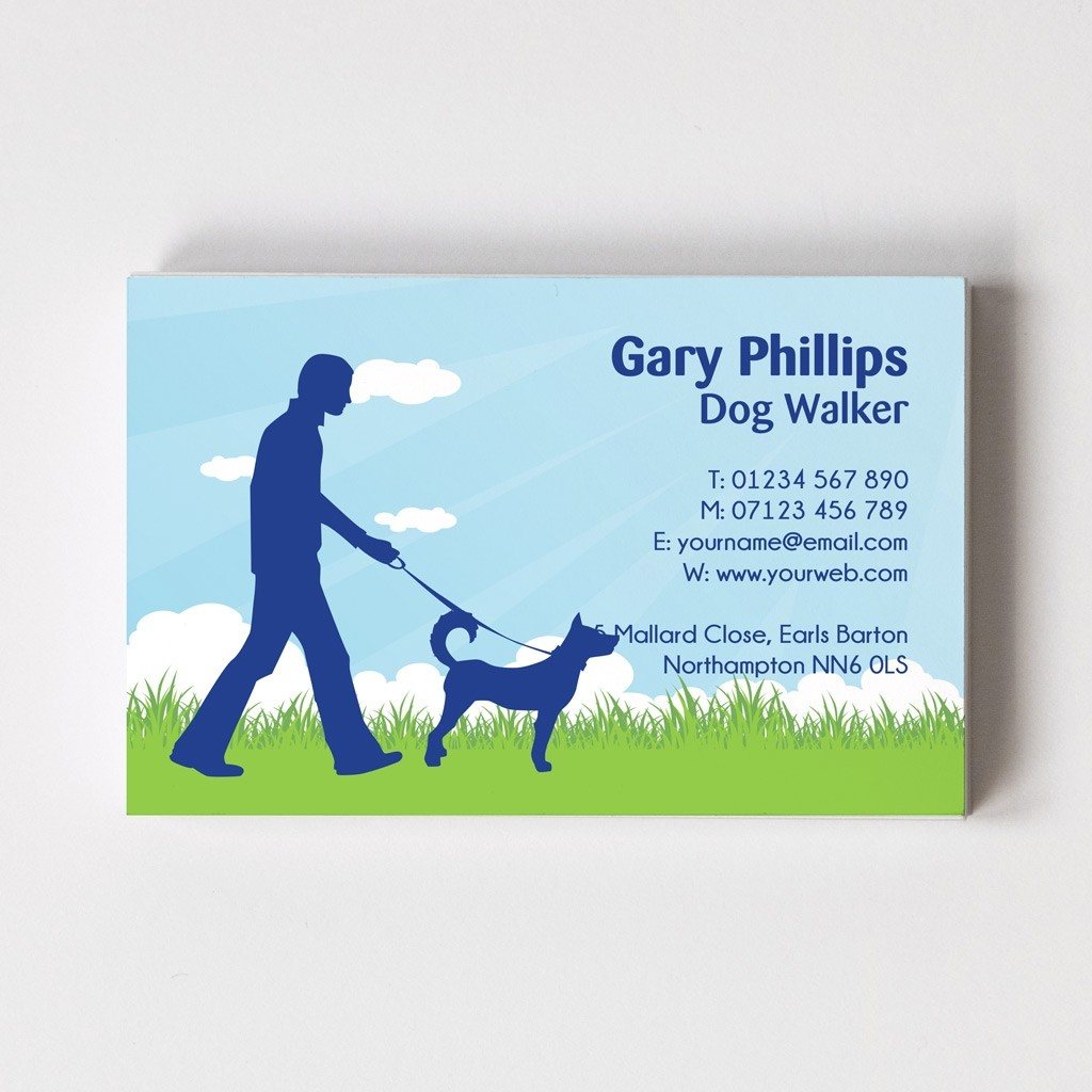 Dog Walker Templated Business Card 2