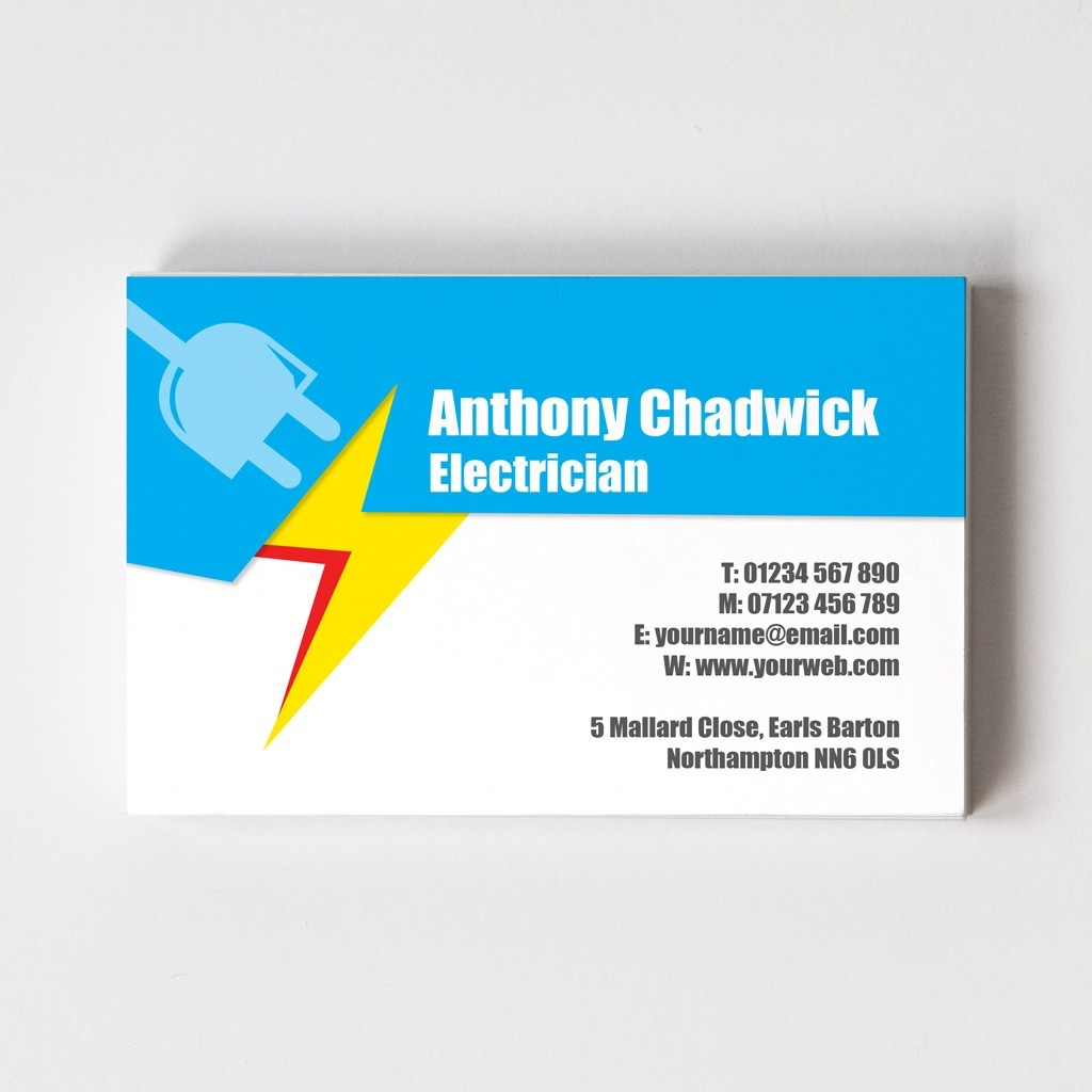 Electrician Templated Business Card 2