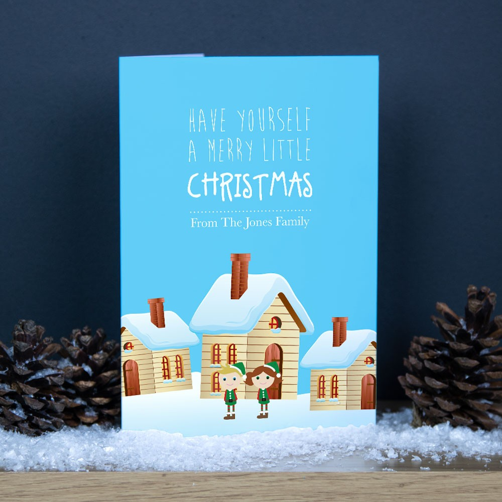 Premium Christmas Cards - Elves