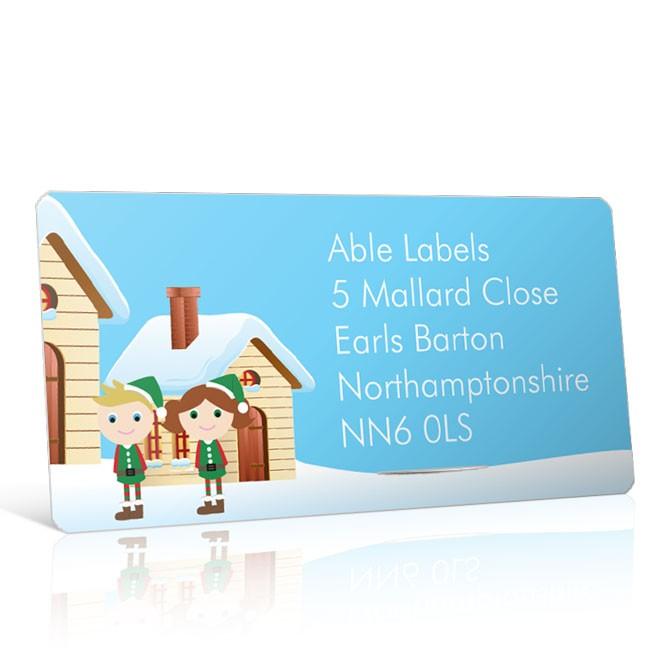 Christmas A4 Sheet Labels - Elves