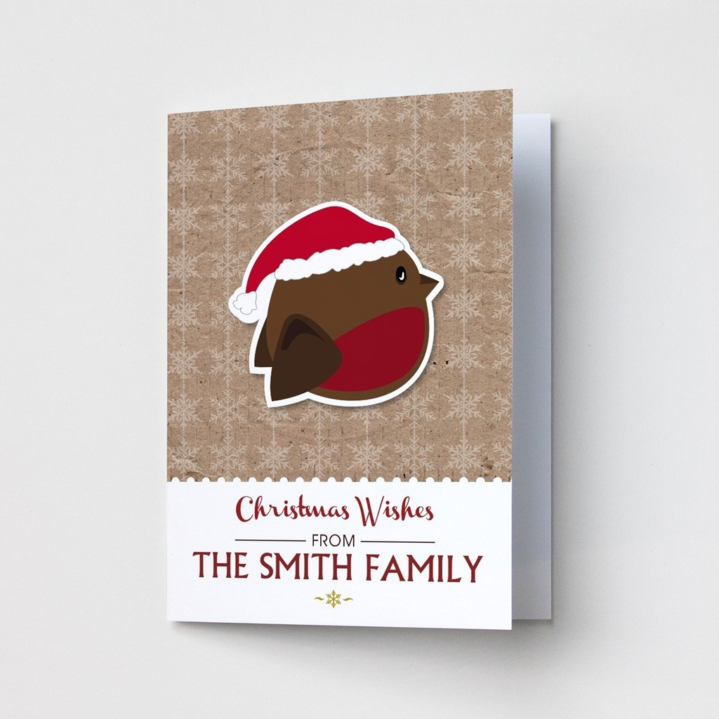 Premium Christmas Cards - Robin Design