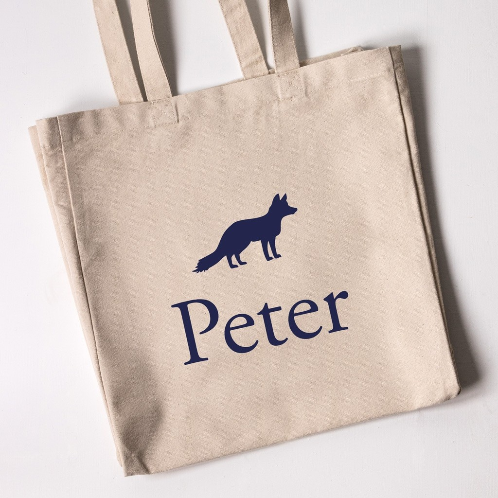 Personalised Tote Bag - Fox