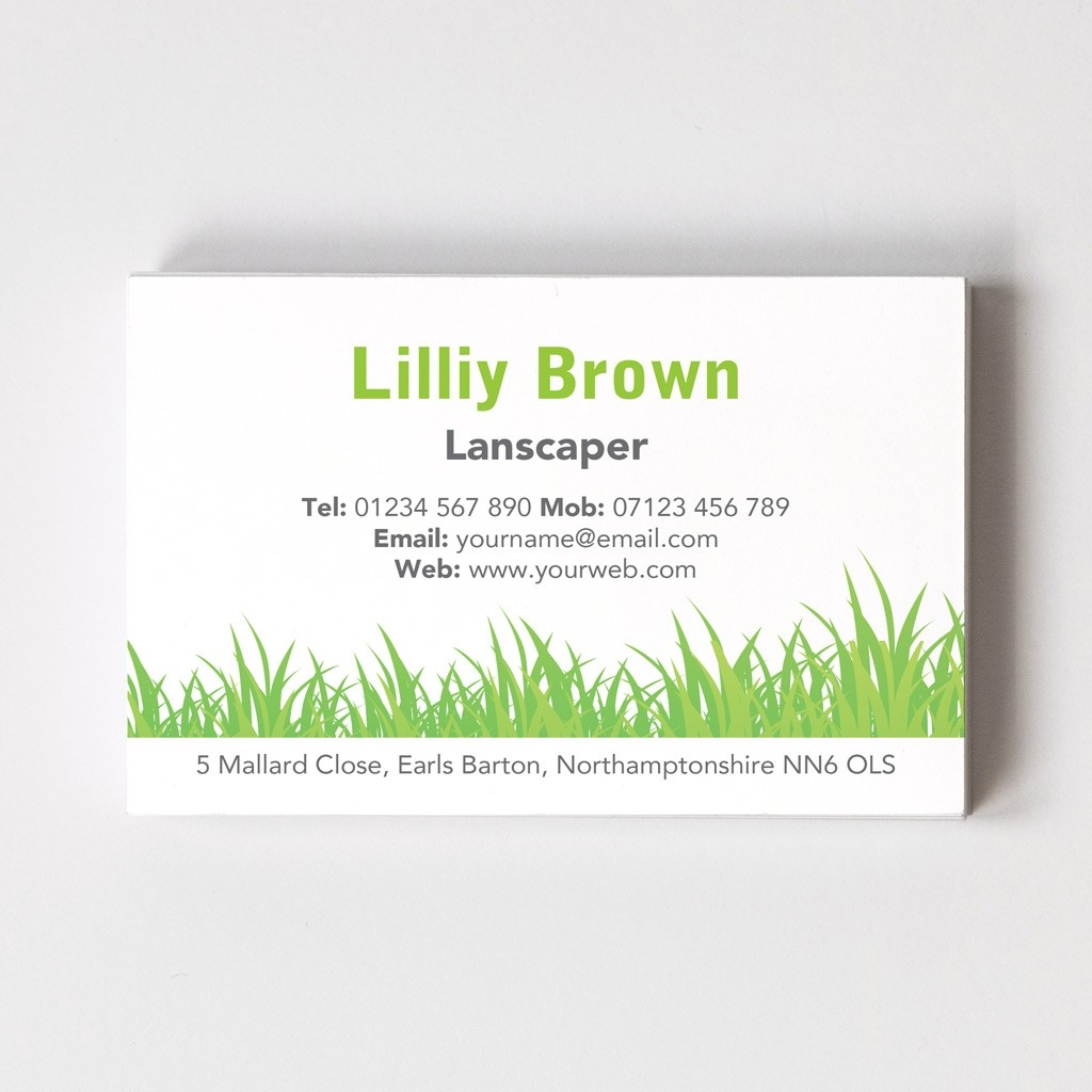 Florist/Gardener Templated Business Card 2