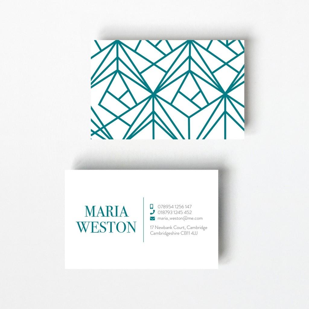 Geometric Design Business Card