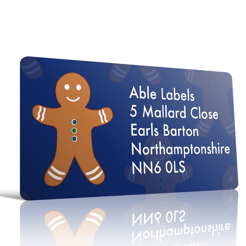 Christmas A4 Sheet Labels - Gingerbread Man-19x40mm