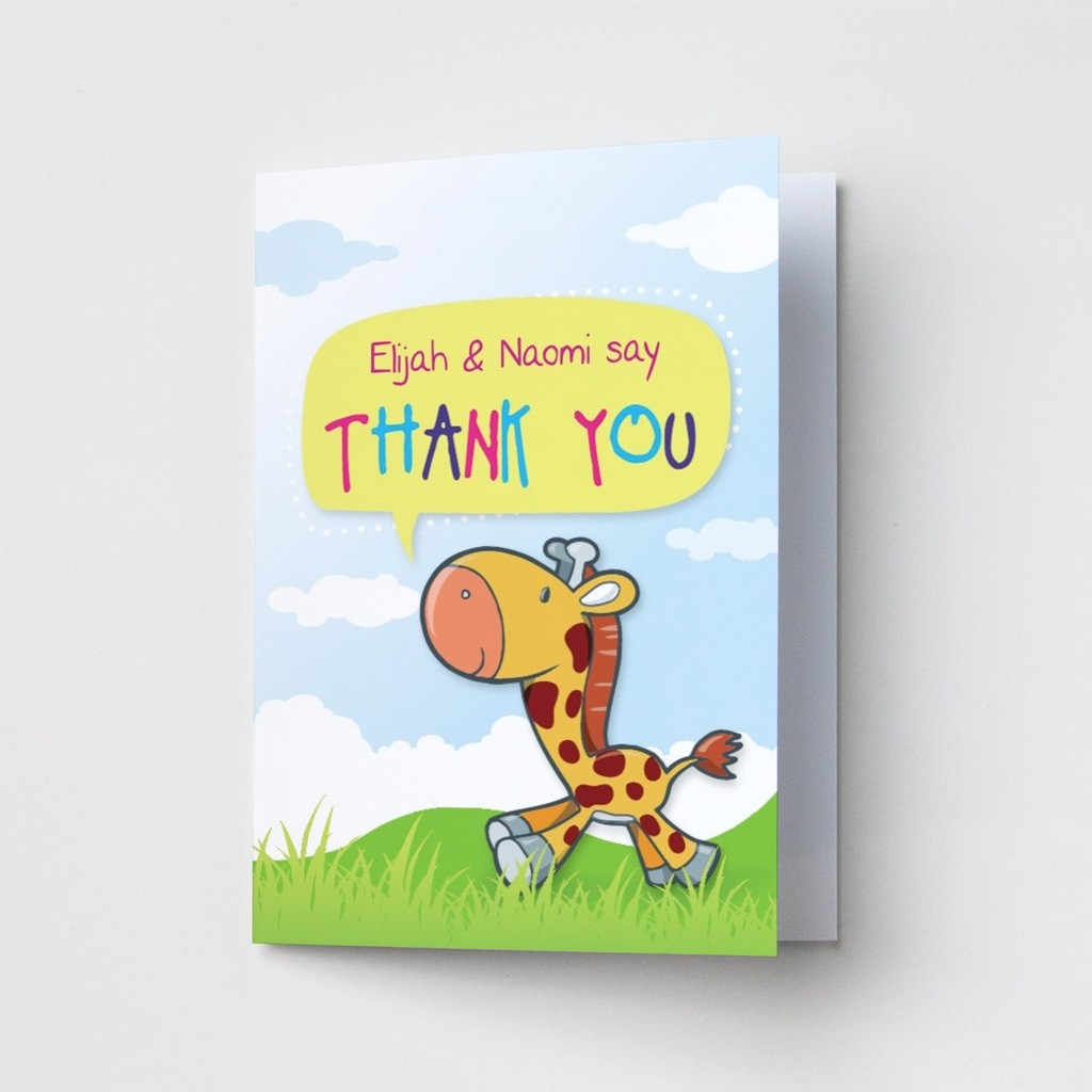 Giraffe - Thank You Card