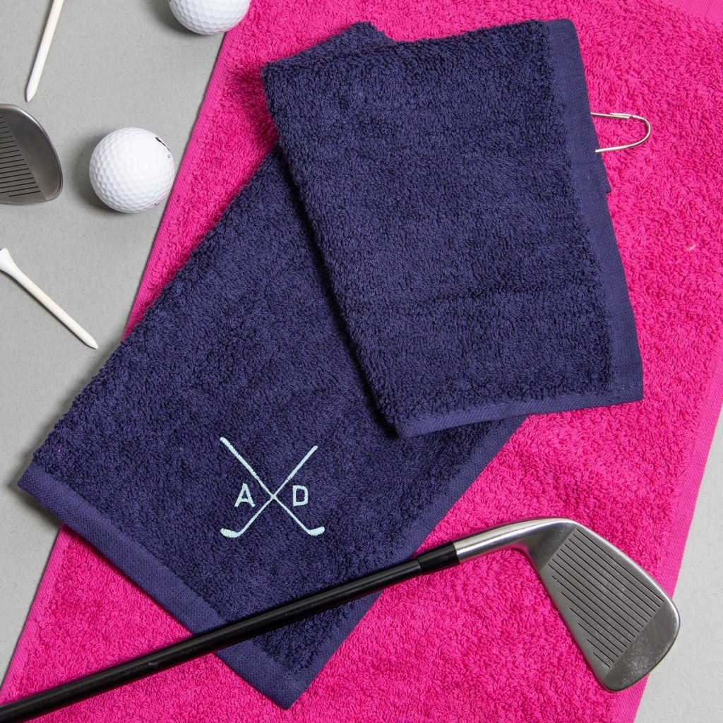 Personalised Golf Motif Towel