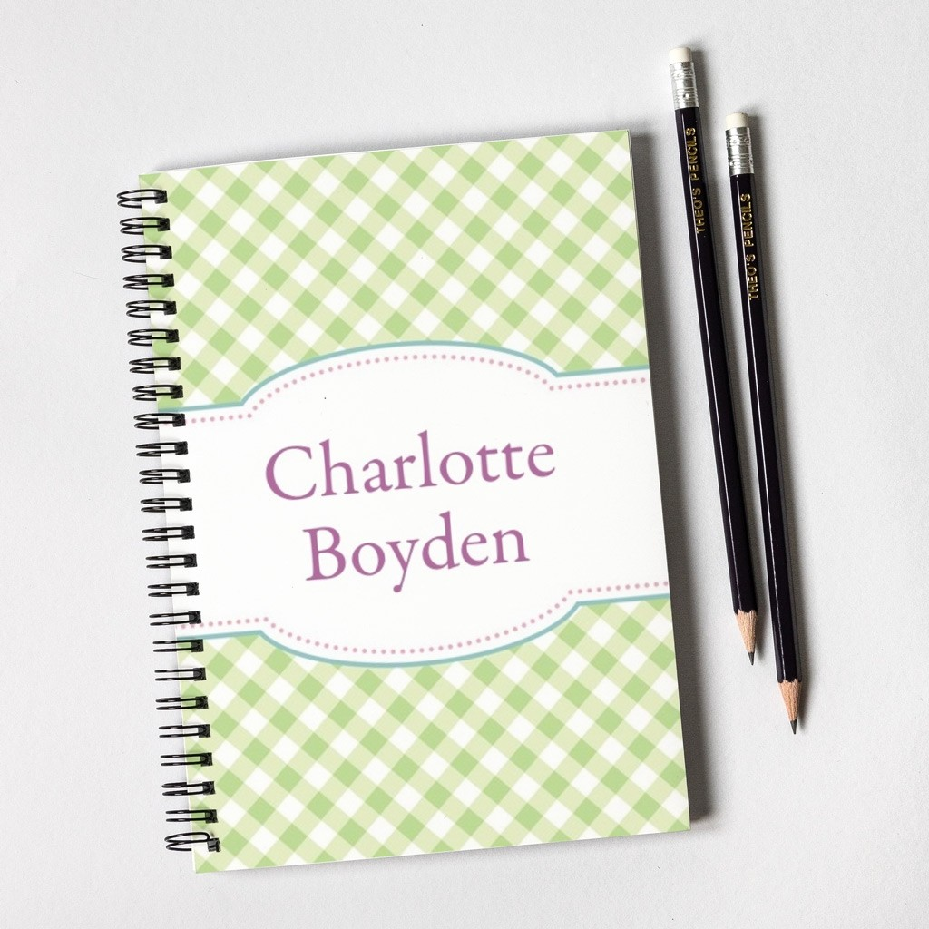 Gingham Notebook Gift Set