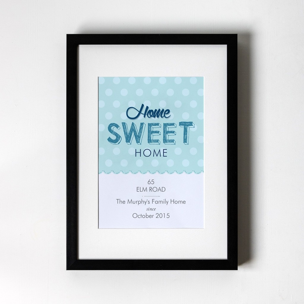 Home Sweet Home - Personalised Art Print