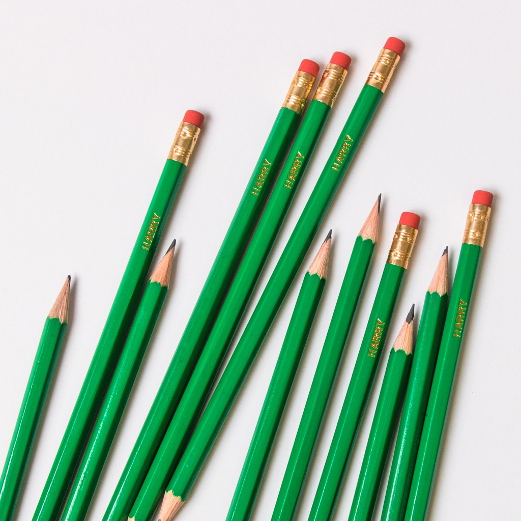 Personalised Green Pencils