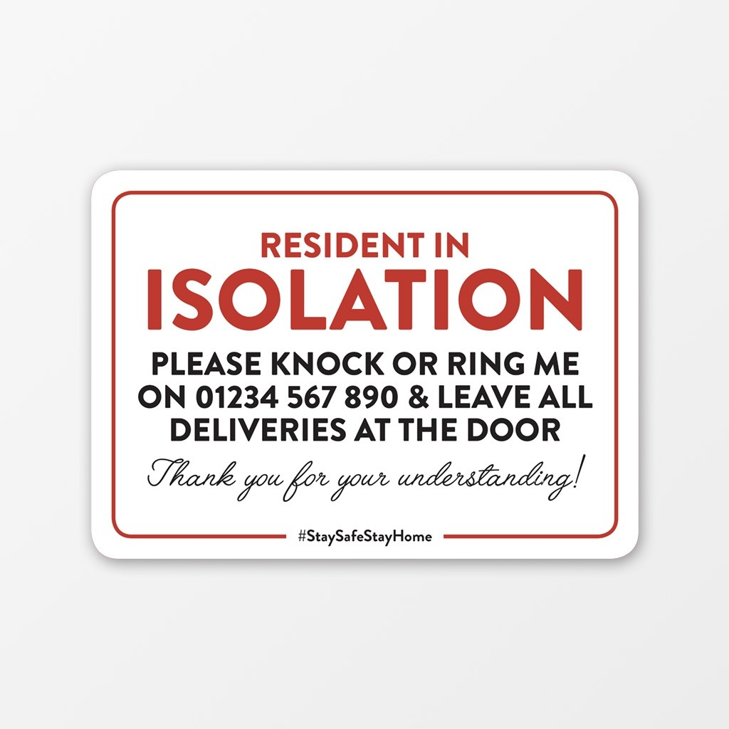 Self Isolating Window Sticker