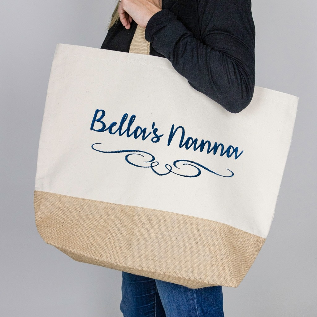 Personalised Large Canvas Tote Bag