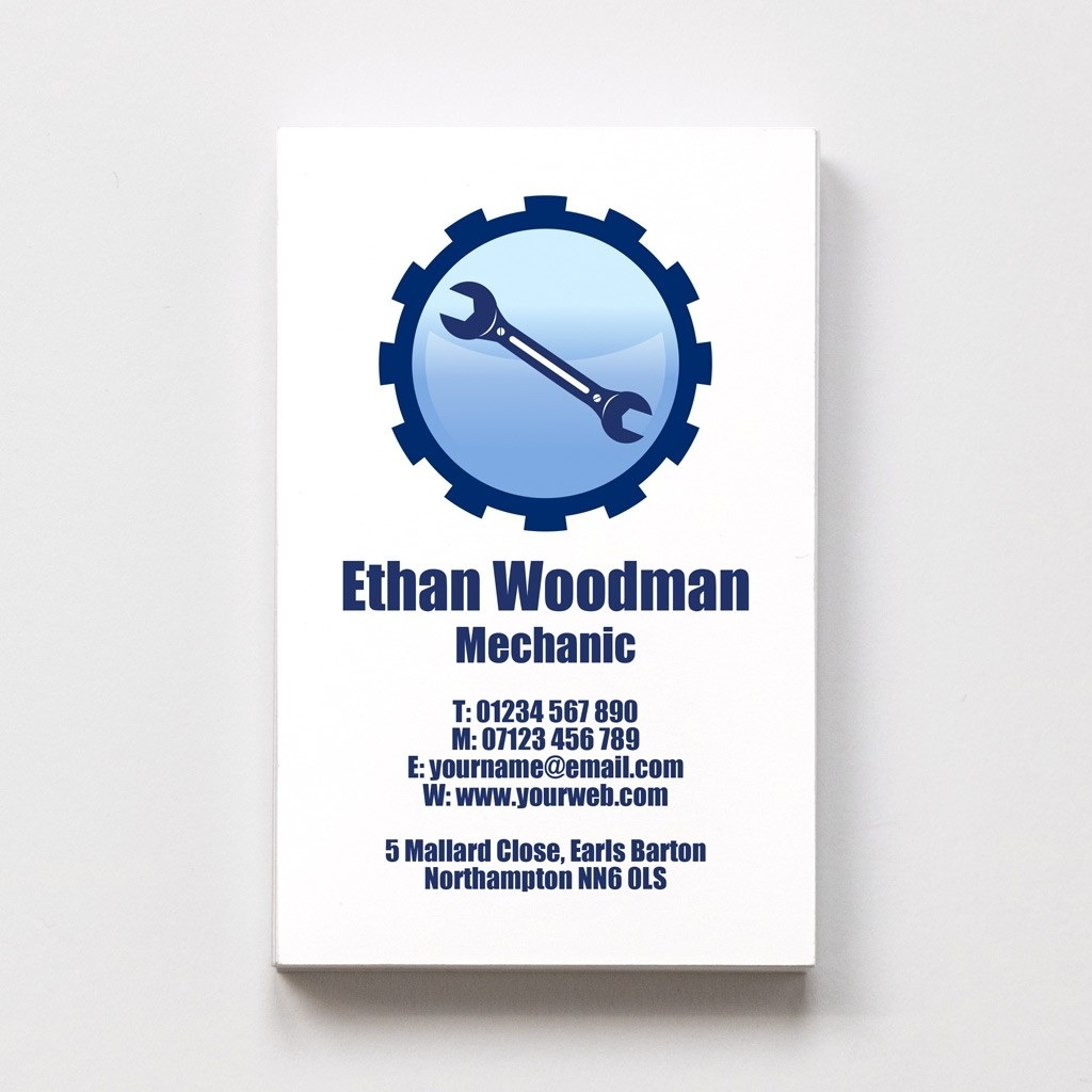 Mechanic Templated Business Card 1