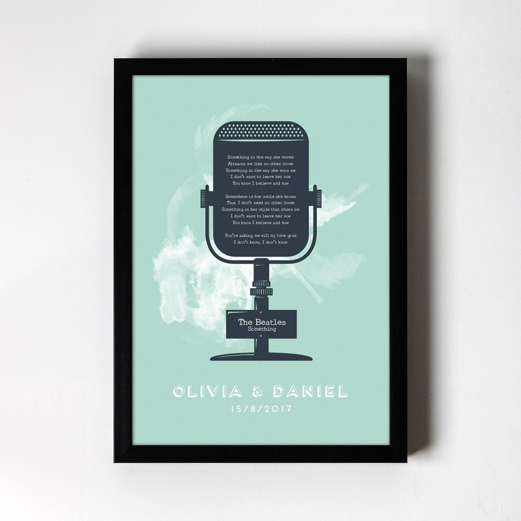 Microphone Personalised Art Print
